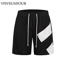 VFIVEUNFOUR Side Color Block Patchwork Casual Shorts Men 2019 Summer Hip Hop Shorts Male Harajuku Loose  shorts jumpsuit все цены