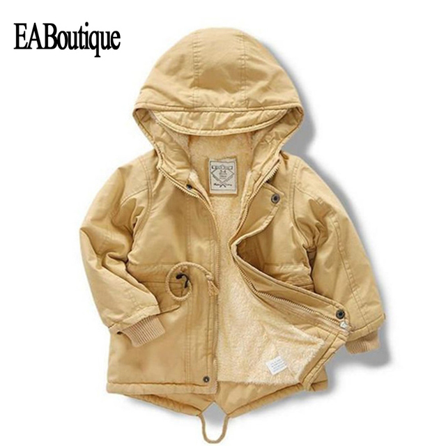 6ca74971f EABoutique New boy winter jacket children 2018 hooded down plus velvet warm  coat for 2-7 year S908