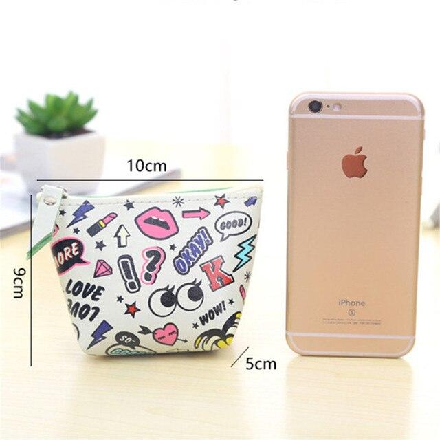 ISKYBOB Fashion Modern girls high-grade PU leather creative change purse zipper Women Wallet Bag Coin Pouch Purse Holder Coin Purses & Holders