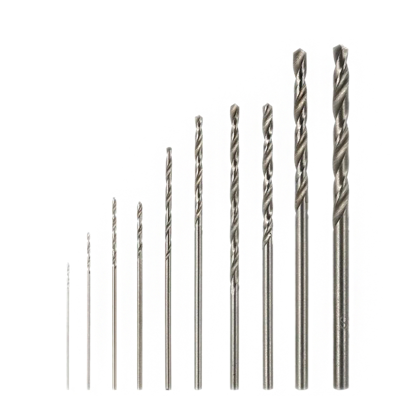 10Pcs/1 Set Mini High Speed White Steel Twist Drill Bit Set For Dremel Rotary Tool HSS