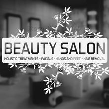 YOYOYU Custom Beauty Salon Decal Vinyl Wall Stickers Window Sign Hairdressing Shop Art DIY ZW432