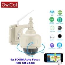 OwlCat Wireless PTZ Dome IP Camera Outdoor 720P HD 4X Zoom CCTV Security Video Network Surveillance IP Camera Wifi 2.8-12mm Lens