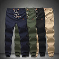 2015 New Fashion Plus Size Drawstring Men Pants Fit Cotton jogger pants  Men's Trousers Mens harem Pants khaki cargo pants