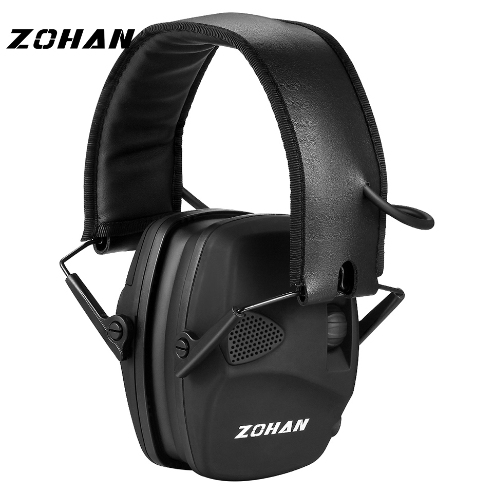 ZOHAN Electronic Shooting Ear Protection NRR22dB Sound Amplification Noise Reduction Ear Muffs Professional Hunting Ear Defender(China)