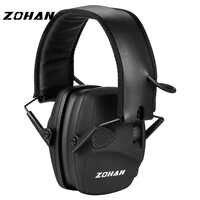 ZOHAN Protection électronique des oreilles de tir NRR22dB amplificateur sonore réduction du bruit cache-oreilles professionnel chasse oreille défenseur