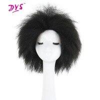 Deyngs Korte Synthetische Vrouwen Pruik Afro Kinky Steil Haar Natuurlijke Zwart/Bruin/Rode Kleur Pixie Cut Haarstukje Afrikaanse amerikaanse Pruik