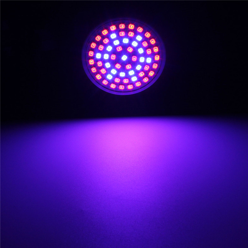 Full spektrum 3W E27 3528 SMD 60 LED plante vokse lyspære lampe for hageplante blomstrende hydrokultur 220V Grow Box