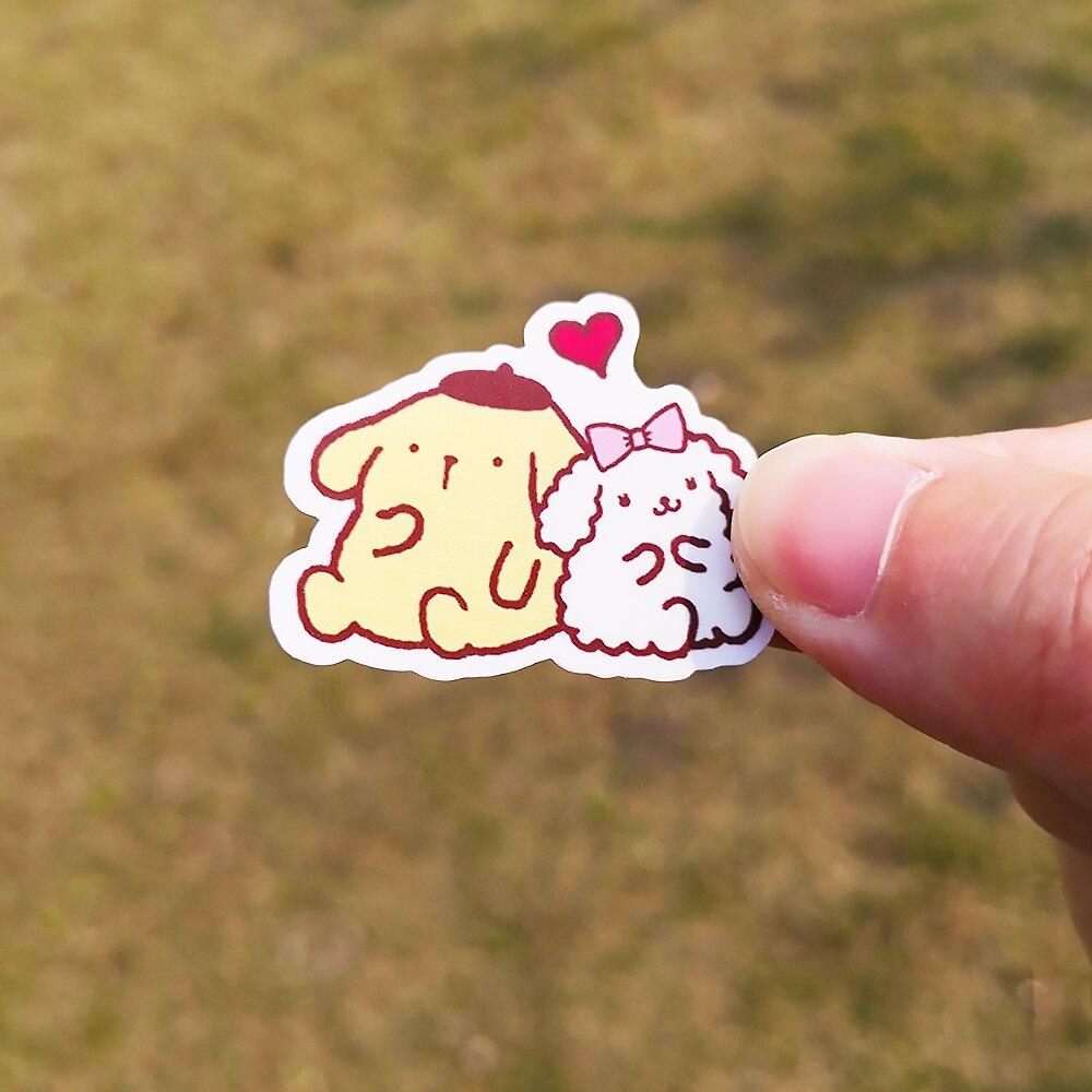 Купить с кэшбэком 20/40pcs Cute Plush Toy Bunny Sticker Cartoon Movie DIY Diary School Stationery Children's Room Decoration