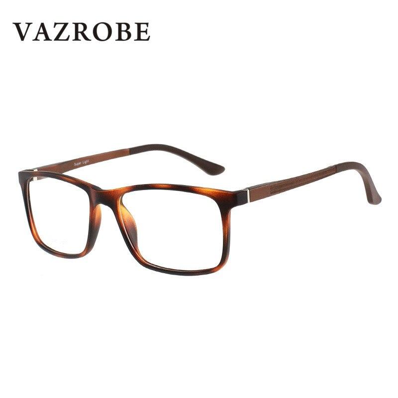 Vazrobe Quadrado Óculos TR90 de Armação para Homens Mulheres Optical Lente  Clara Miopia dioptria Qualidade Da Marca adfb8b3620