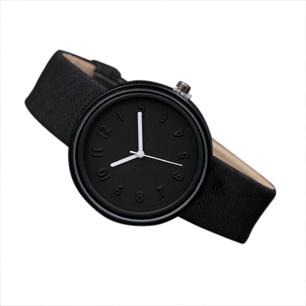 2018 Unisex Simple Fashion Number Watches Quartz Canvas Belt Wrist Watch Women Watches Bracelet Sport Military Men watch