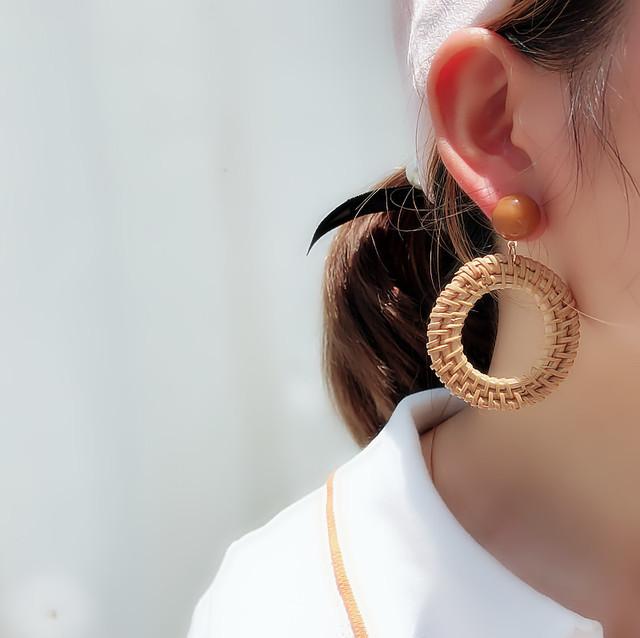 Korean Rattan Dangle Earrings