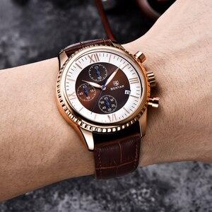 Image 2 - Часы наручные BENYAR Мужские кварцевые, модные спортивные брендовые роскошные, с кожаным ремешком