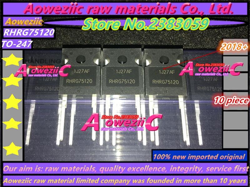 Aoweziic 2018+ 100% новый импортный оригинальный RHRG75120 75120 TO-247 диод с быстрым восстановлением ламповый выпрямитель 75A 1200 В