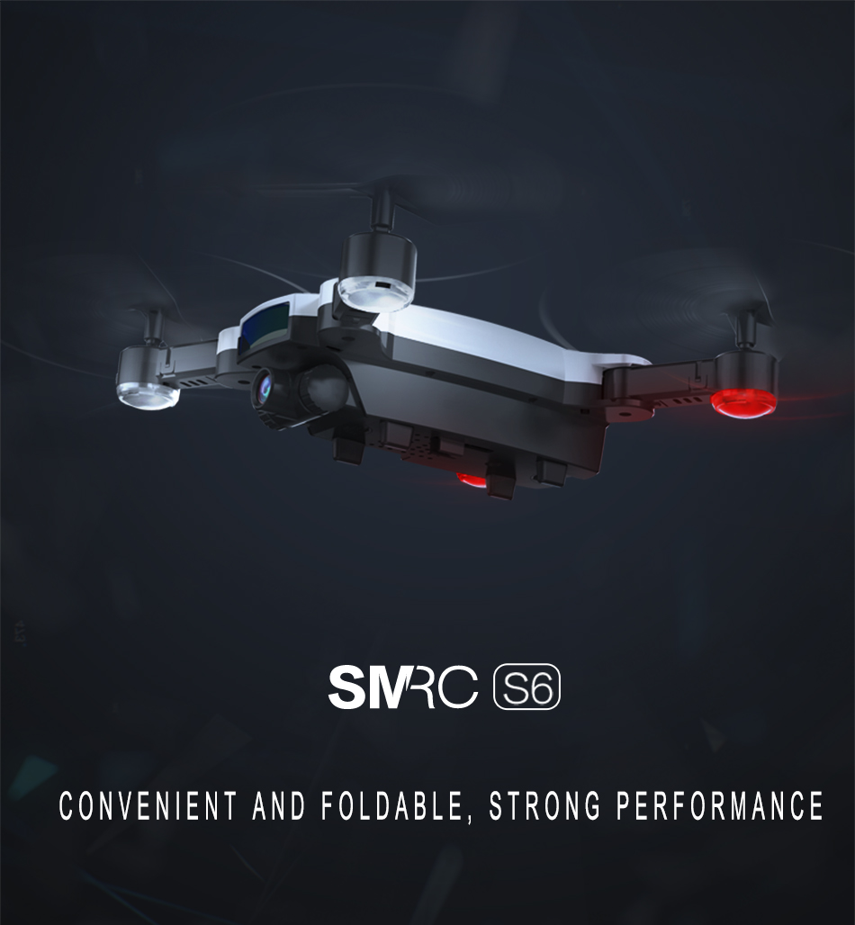 SMRC S6 RC Mini drone Professional Smart follow me Helicopter wifi drones with camera HD FPV 7P pocket Helicopter toys child 3