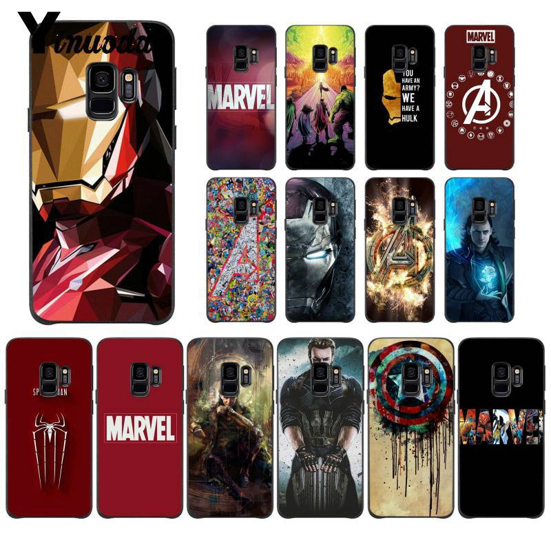 Yinuoda Deadpool Iron Man Marvel Avengers TPU Phone Case Cover for Samsung Galaxy S7edge S6 edge plus S5 S8 S7 S9 Plus case