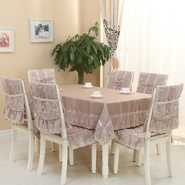 Eat chair cushion/chair cover/antependium suits, high water solubility and faux suede table cloth, factory direct sales