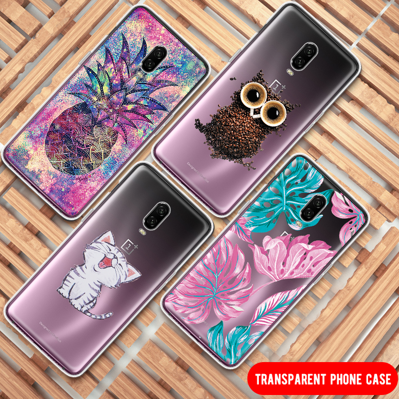 Animals Flowers Silicone Printing Cute Pattern Case For font b Oneplus b font 6 6T font