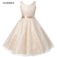 Summer 2016 Girl Lace Dress Wedding Elegant Dress For Girls Kids Party Birthday Clothes Child Prom