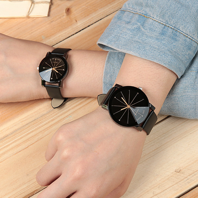 2019 New Fashion Black Couple Watch Trend Men Women Casual Quartz Wrist Watch Love Student Silicone Gift Clock Relogio Masculino