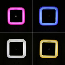 Light Sensor Control Night Light Mini EU US Plug Novelty Square Bedroom lamp For Baby Gift Romantic Colorful Lights