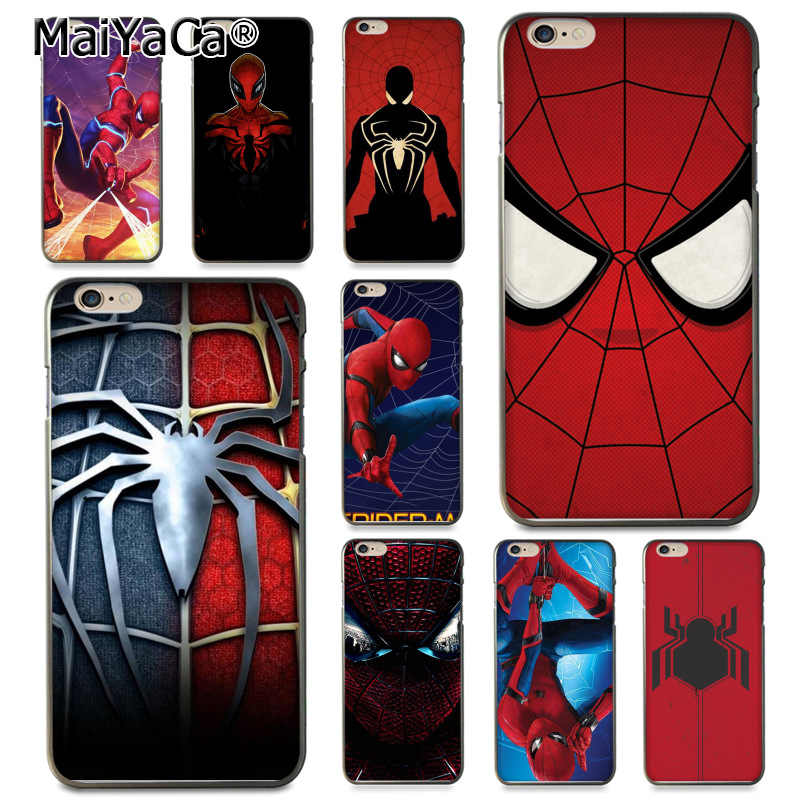 MaiYaCa Marvel Homem-Aranha Homem Aranha Quadrinhos do Regresso A Casa Do Coque Shell Caso de Telefone para o iPhone Da Apple 8 7 6 6 S Plus X 5 5S SE 5C Capa