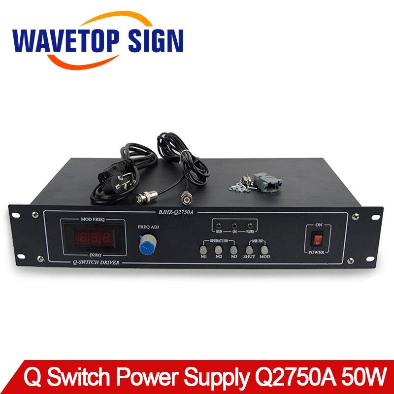50 w Q-interrupteur D'alimentation Q2750A Q-commutateur Pilote Utiliser pour YAG Laser Mark Machine 50 w