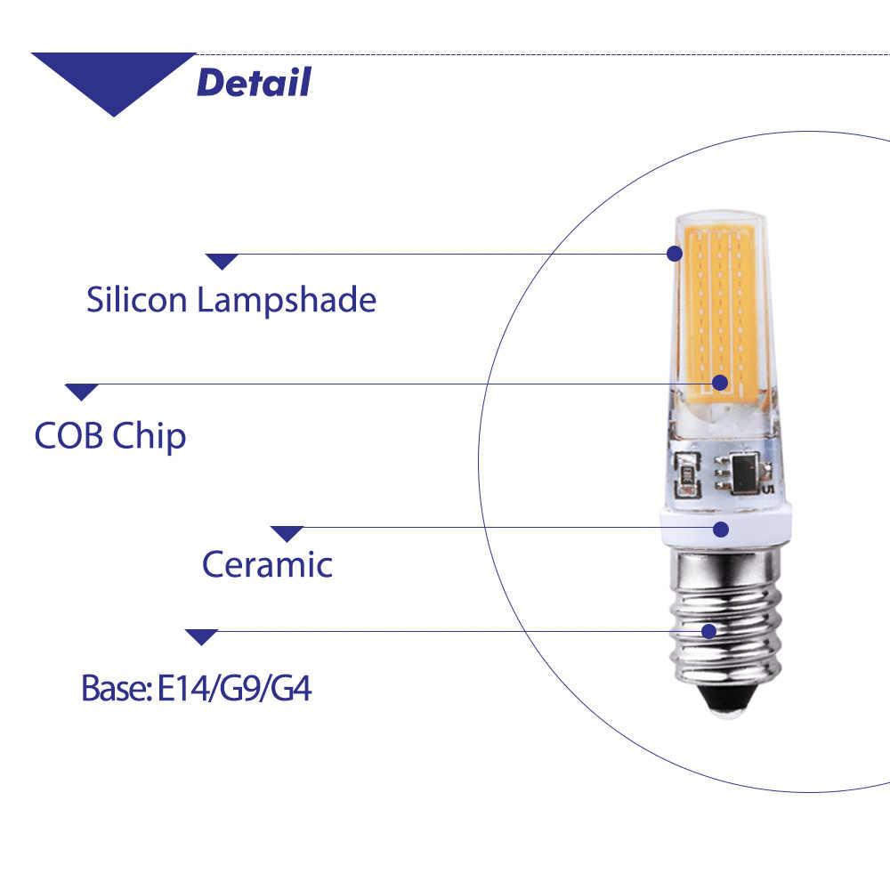 LED Lamba G4 G9 E14 AC 220 V COB LED Ampul Beyaz/sıcak Beyaz Silikon Abajur mi işık ampul için 1 adet Ev süslemeleri