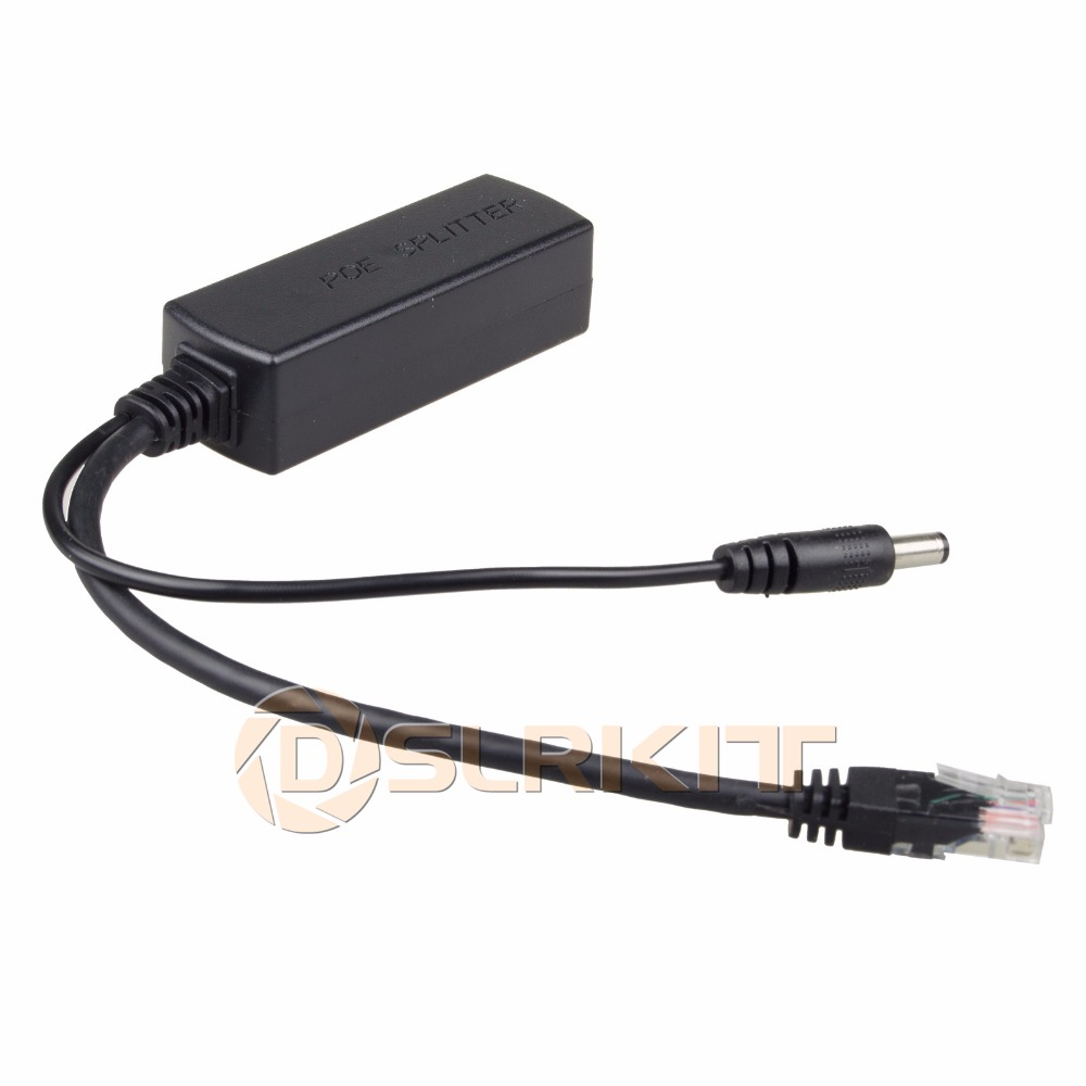 DSLRKIT Gigabit Active PoE Splitter Power Over Ethernet 48V To 12V 1A-2A 10/100/1000Mbps