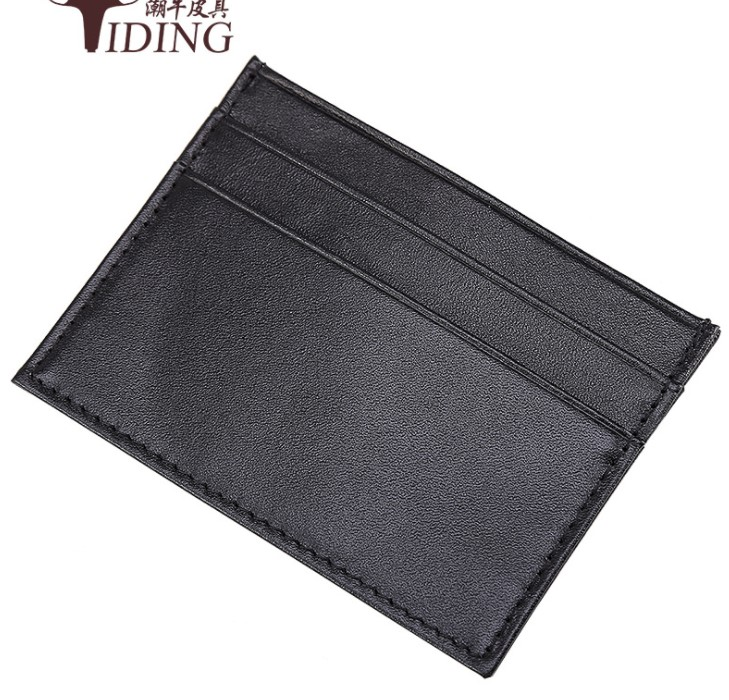 men women card&ID holders cow leather 2018 new fashion black unisex real leather vintage casual clutch wallets money clips