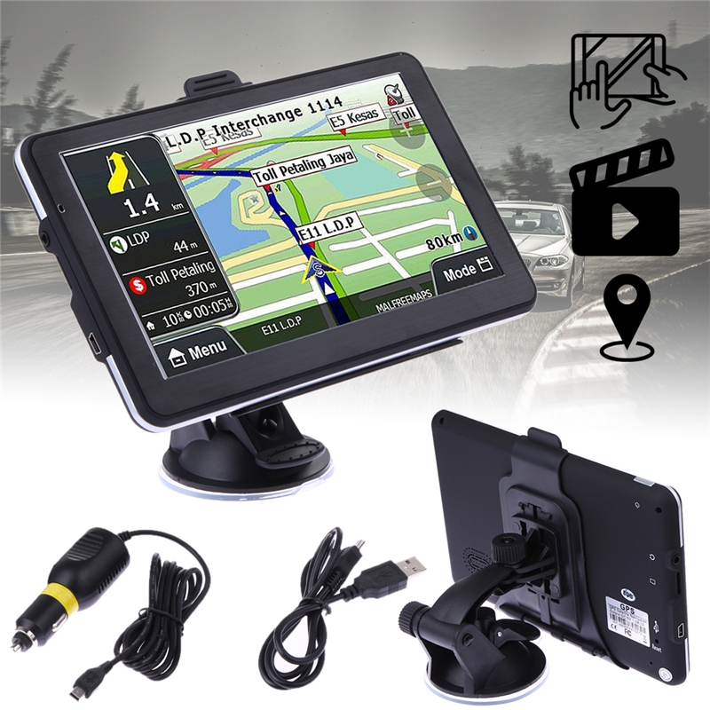 7 TFT LCD Touch Screen Car Truck GPS Navigator 8GB/DDR TF/MMC FM Transmitter MP3 MP4 Player North/South America Europe Map beling g760 7 inch touch screen car gps navigation win ce 6 0 tablet pc vehicle truck gps navigator fm hd 4gb 8gb mp3 mp4 player