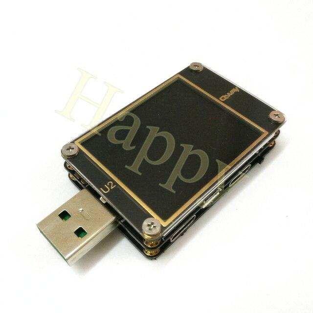 U2 QC4 + PD3.02.0 PPS מהיר טעינה פרוטוקול קיבולת של הנוכחי מד מתח USB Tester