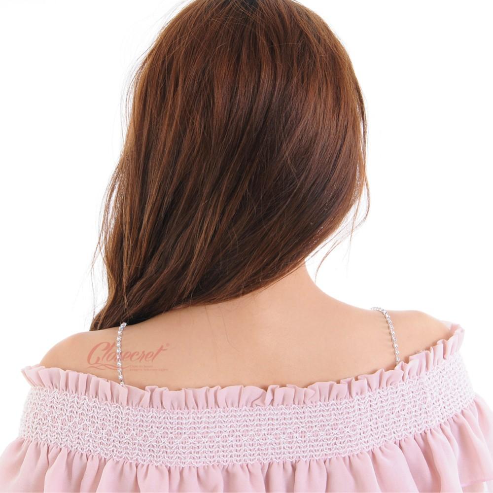 Closecret Women's Single Row of Rhinestone Bra Straps for Tube Dress(Silver, 1 Pair) 8
