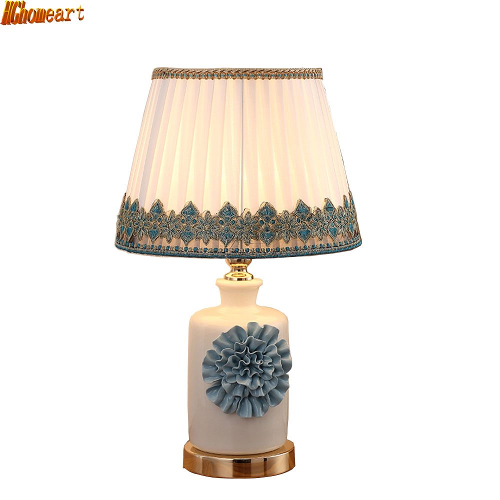 HGhomeart Modern Simple Ceramic Fashion Table Lamp Bed Bedside Lamp Decorative Living Room Adjustable Nordic Table Lamp tuda 2017 now ceramic table lamp chinese wedding room bedroom bedside lamp bedside lamp simple modern ceramic decoration lamp