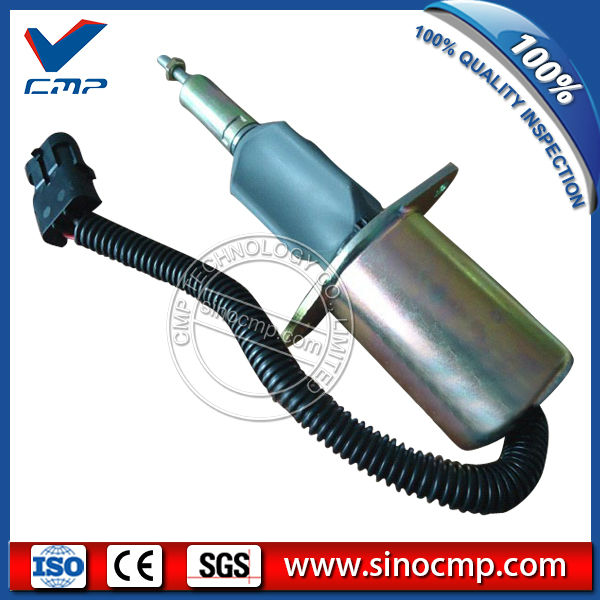 CMP 12v excavator fuel stop shutdown shutoff flameout solenoid 3921978 cmp stop solenoid valve 3935650 for cummins excavator