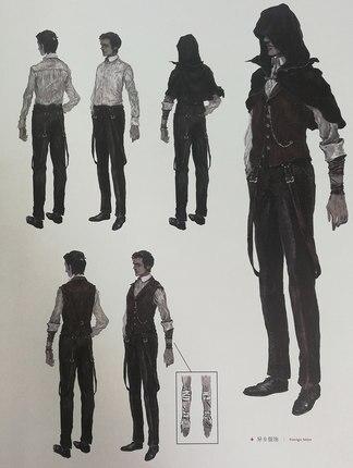 Ensemble d'illustration d'art japonais de malédiction de sang d'origine chinoise jeu d'étudiant de sang livre de bande dessinée - 4