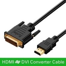1M 1.5M 2M 3M 5M 10M Chuyển Đổi HDMI To DVI DVI D Cáp 24 + 1 pin Adapter Cáp 1080P Cho Màn Hình LCD DVD HDTV XBOX PS3 Cáp Hdmi Tốc Độ Cao