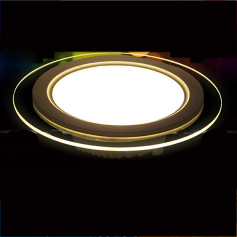 SPLEVISI Dimmable 6W 12W 18W LED Panel Downlight Round Glass Glass Panel Lights Առաստաղի Առաստաղի լամպեր AC 220V 240V