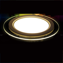 6W 12W 18W LED Panel Downlight Round Glass Panel Lights  Ceiling Recessed Lamps For Home Hotel Lighting  AC110V AC220V