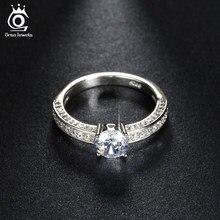 fc1ec20f8a89 ORSA JEWELS de circón de lujo boda anillo con brillante 0.8ct de cristal  para las mujeres de dedo de moda anillos de joyería de .