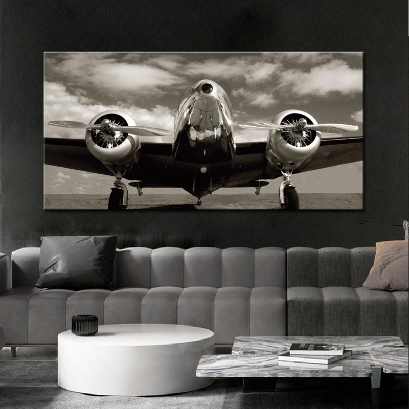 Posters And Prints On Canvas Wall Art Canvas Painting Classic Vintage Airplane Pictures Home Decoration For Living Room No Frame