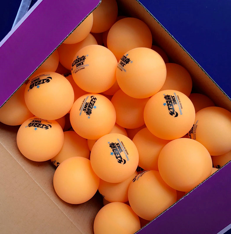 DHS Table Tennis Balls 30/60pcs Orange New Material 1-star D40+ ABS Ball For Table Tennis Seamed 40 Plastic Poly Ping Pong Balls