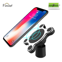 Fimilef High Quality Magnetic Wireless Charger Car Mount Holder Air Vent Dashboard Universal Car Holder Fast Wireless Charging|Mobile Phone Chargers|   -
