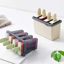 4 Cavity Ice Cream Mold Makers DIY Molds Ice Cube Mould Dessert Molds Tray With Popsicle Maker Lolly Mould Tray Pan Kitchen Tool