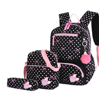 4a9479956c01f Kids Schoolbag 3pcs Set Printing School Bags Backpack Fashion Lovely  Backpacks For Children Girls School Student