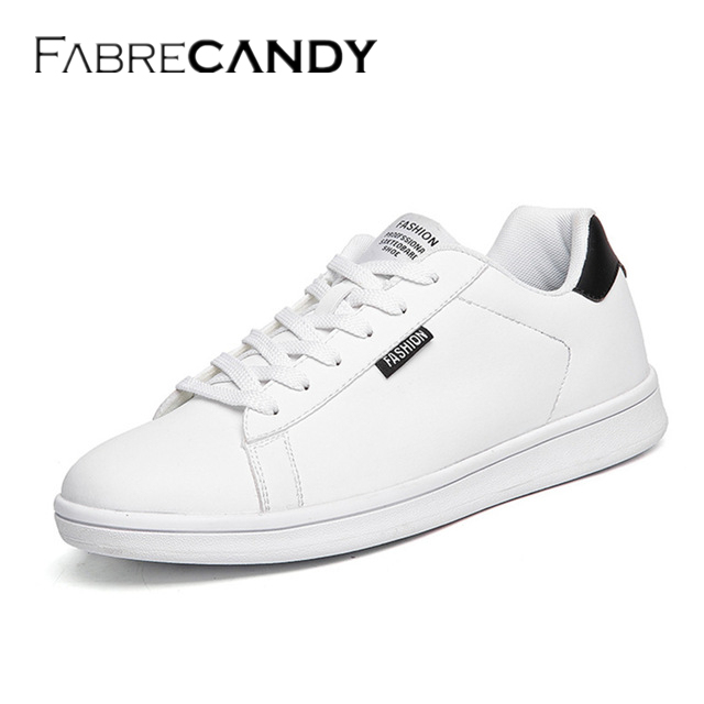 ad935553b3 FABRECANDY 2017 New Men Shoes High Quality Luxury Brand Men Leather Shoes  Fashion Casual Mens Shoes Male Flats White Shoes