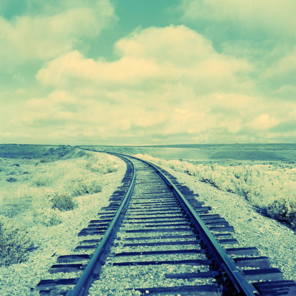 SHENGYONGBAO 3x3m Art Cloth Digital Photography Backdrops Props Photo Studio Background Railway NTG-002
