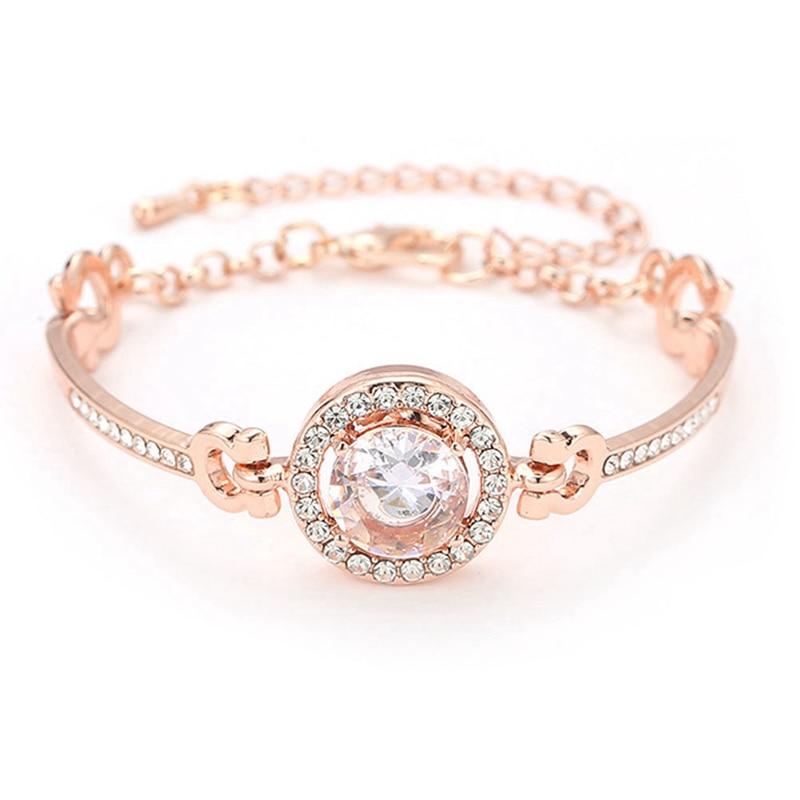 Fashion Luxury Rhinestone  Zircon Multi-Layer Bangle Bracelet High Quality Rhinestone Charm Bracelet for Women Girls Gift