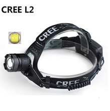3 Mode  XML L2 2400Lm Waterproof Zoom LED Headlight Headlamp Head Lamp Light Zoomable Adjust Focus For Bicycle Camping Hiking
