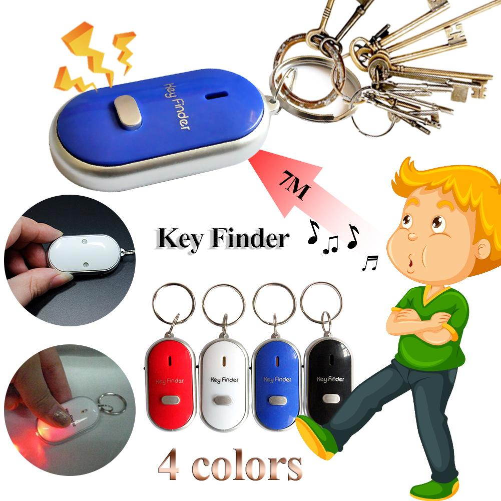 Whistle Key Finder Flashing Beeping Remote Lost Keyfinder Locator Keyring image