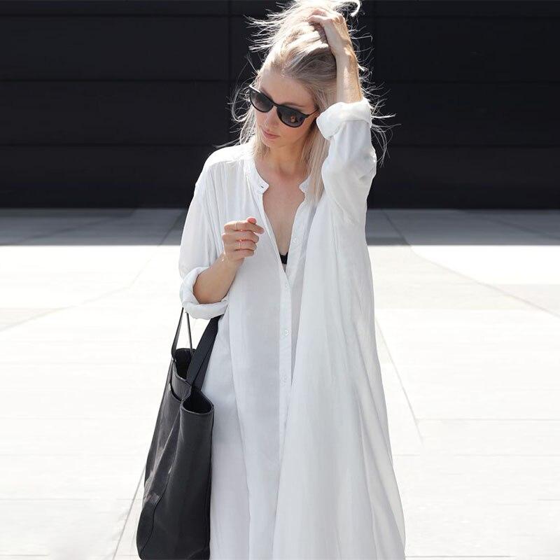 622f976b2590 2019 nuevas mujeres verano ropa de playa larga Kaftan playa vestido blanco  algodón túnica traje de baño cubierta-ups Bikini envoltura cubierta ...